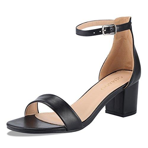 cm High Heels Elegant Abendschuhe Sandalen Sommer Schuhe mit Absatz, Gr.- 36 EU, Schwarz-klassisch ()
