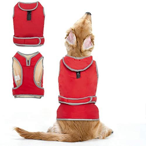 Nylon-fleece-jacke-mantel (Hundejacke und Brustschutz Hundemantel Wasserdicht Nylon Climate Changer Fleece Jacke)