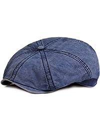 HowYouth® Berretto Classico da Uomo in Cotone con Stile Vintage 8 Bottoni  Cappellino Piatto Cappello d16fd3440afa