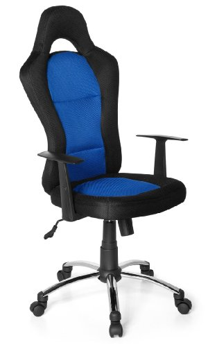 HJH OFFICE 634620 - RACER 500 - SILLA GAMING O DE OFICINA  COLOR NEGRO Y AZUL