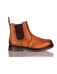 Fenside Country Clothing - Botas de Piel para Hombre Marrón Canela