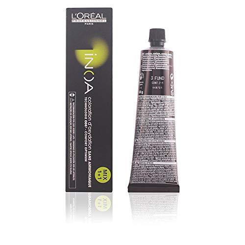 L\'Oréal Inoa - Oxidative Coloration ohne Ammoniak 3 Dunkelbraun, 1er Pack (1 x 60 ml)