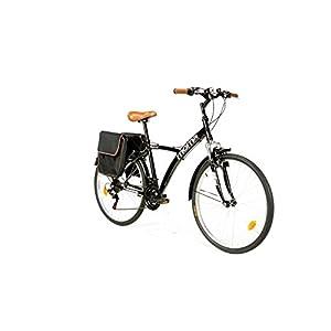 """41XSW766zqL. SS300 Moma Bikes, Bicicletta Ibrida Shimano, Alluminio, 18 velocità, Ruota da 26"""", con Sospensione"""