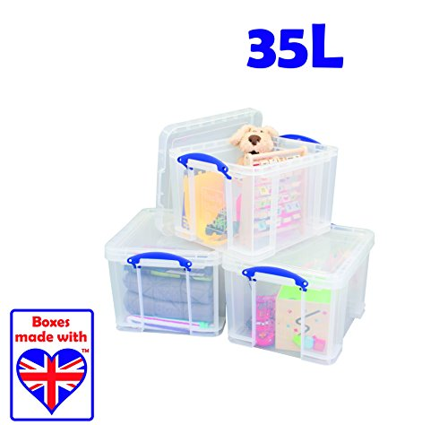 Really Useful Storage Box Plastic Lightweight Robust Stackable 35 Litre ...  sc 1 st  Search Furniture & Really Useful Storage Box Plastic Lightweight Robust Stackable 35 ...