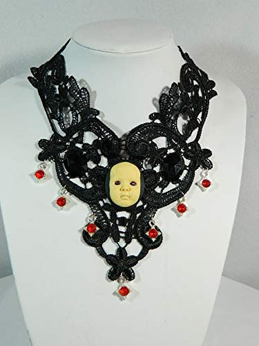 Choker Boeses Baby Spitze Gemme Camee Collier Kette Gothic Steampunk Burlesque