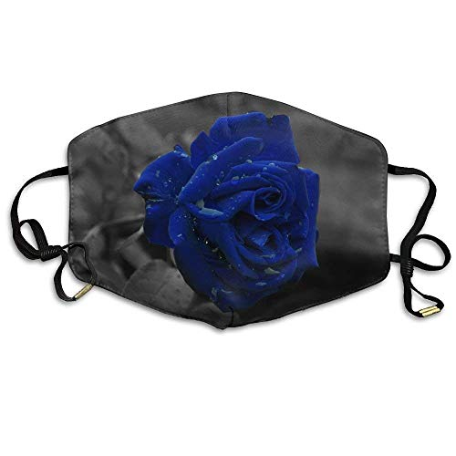 Masken,Masken für Erwachsene,Anti Pollution Mask Blue Rose Flowers Printed Mask Neutral Mask Men Women Polyester Dust-Proof Mask Blue Rose Japan