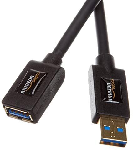 AmazonBasics USB 3.0-Verlängerungskabel (A-Stecker auf A-Buchse) 3 m (Abwärtskompatibilität zu USB 2.0 und 1.1