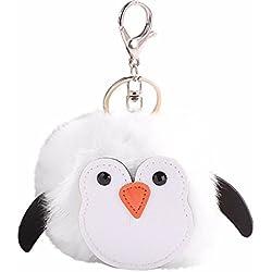 Alaso Portes-clés,Keychain, Femme Sac À Dos Pendentif Accessoire Forme de Pingouins Mignonne Porte Clef Anneau de Clé Trousseau Keyring