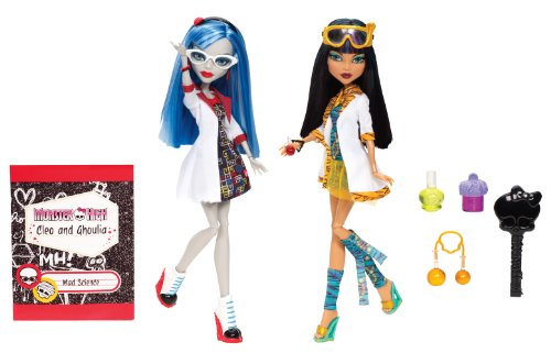 Mattel Monster High BBC81 -  Laborpartner Ghoulia und Cleo, 2 Puppen im ()