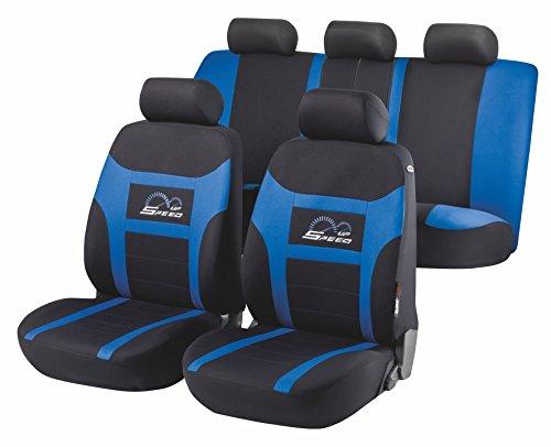 Preisvergleich Produktbild Universal Sitzbezug Schonbezug SPEED UP blau für Rover 45, 75, 200, 214, 400, Mini, T, ZS, ZT