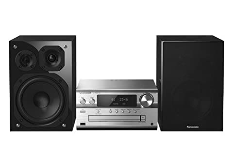 Système Hi-Fi Panasonic SC-PMX152EGS (120 W RMS, 100 kHz Super Sonic Tweeter, Bluetooth, Airplay, Radio), argent