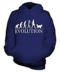 Candymix - Shetland Sheepdog Evolution Of Man - Unisex Hoodie Mens Ladies Hooded Sweater