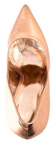 Elara Damen Pumps | Trendige Spitze Stilettos | High Heels Champagner Fashion