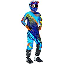 RFX Fly Racing juventud Kinetic Trifecta pantalón y camiseta Combo Kit, azul/naranja/Hi-Viz, tamaño 28/grande Jersey