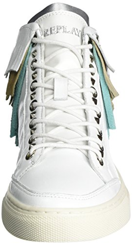 Replay Damen Weber High-Top Mehrfarbig (White Green Beige)