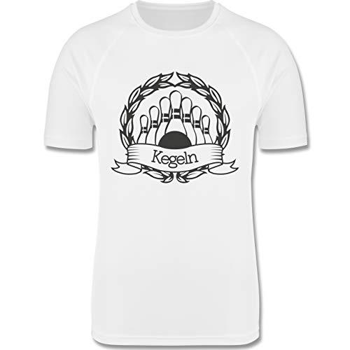 Sport Kind - Kegeln Lorbeerkranz - 128 (7-8 Jahre) - Weiß - F350K - atmungsaktives Laufshirt/Funktionsshirt für Mädchen und Jungen