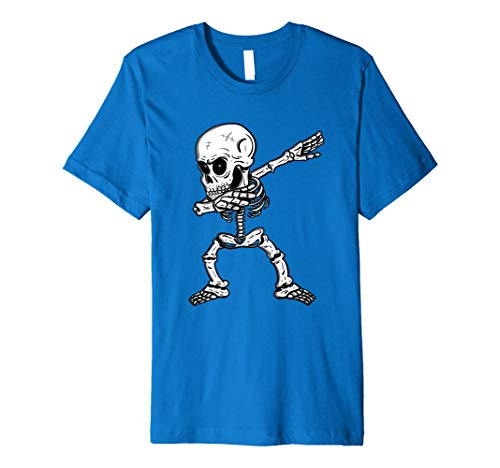 Tupfen Skelett T-Shirt - Dabbing Tanz Hemd Halloween -