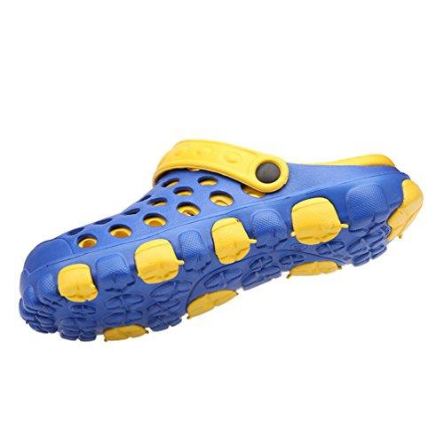 Dexuntong Unisex Estate Pantofole da All'aperto Mesh Traspirante Leggero Pattini Antisdrucciolevoli della Spiaggia Scarpe da Doccia per Donne Uomini35-44 Blue