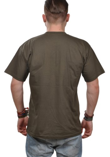 T-Shirt Herren Eidos Extremsportler - Angler T-Shirt Khaki