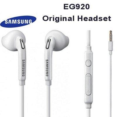 Fone-Stuff Samsung echte 100% original EO-EG920BW 3,5 mm Klinke in Ohr-Freisprecheinrichtung Stereo-Kopfhörer mit Fernbedienung und Mikrofon für alle Samsung-Geräte - weiß Original Stereo Hands Free-headset