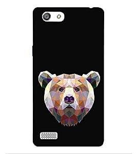 HiFi Designer Phone Back Case Cover Oppo Neo 7 :: Oppo A33 ( Prisma Type Bear Teddy Look Cute Look )
