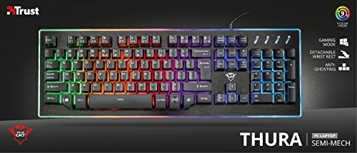 Trust GXT 860 Thura Halbmechanische LED-Tastatur (Deutsches QWERTZ Layout, RGB-Beleuchtung, Anti-Ghosting) - 8