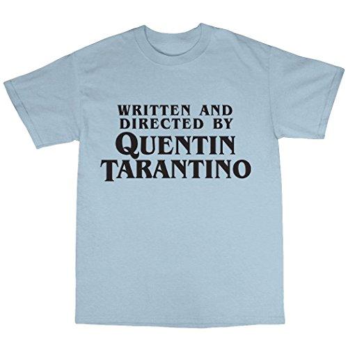 Quentin Tarantino Tribute T-Shirt 100% Baumwolle Hellblau