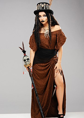 Womens Voodoo Hexe Doktor Kleid Kostüm