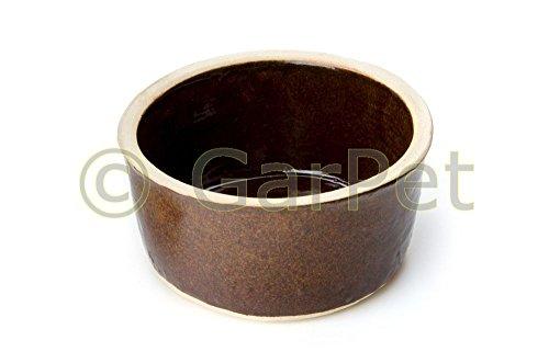 Keramik Trog Steintrog Futtertrog Futternapf Fressnapf Nager Kleintiere glasiert (Gr.4)