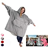 Super Soft Warm Comfy Ultra Plush Giant Blanket, Keep You Warm This Winter, One Size Fit all Adults Men Women Teens Christmas Sweatshirt Hoodie,Gray