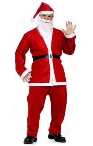 Imagen de garden mile adulto traje de santa papá noel disfraz de lujo para hombre navidad completo disfraz alternativa