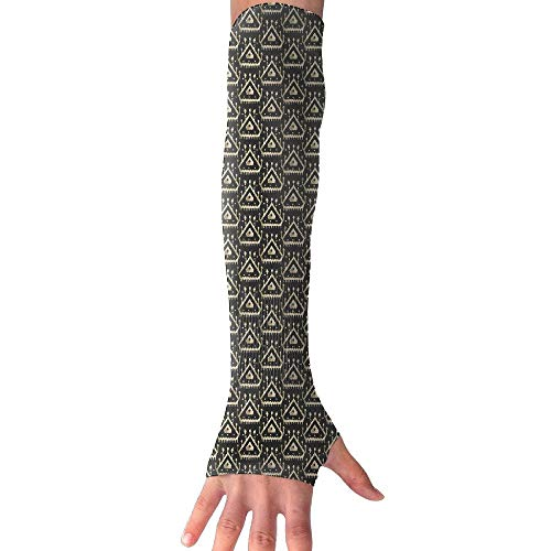 Palasyger Cooling Arm Long Sleeve Glove Golden Triangle UV Sun Protection Arm Sleeves with Thumb for Basketball, Football, Baseball, Cycling, Volleyball, Or Other Activities