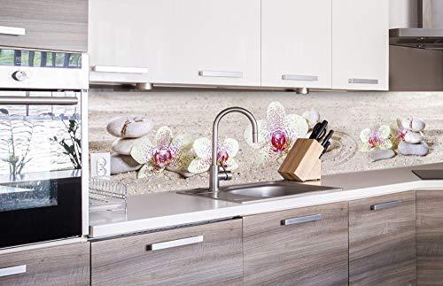 DIMEX LINE Küchenrückwand Folie selbstklebend Zen Garten 260 x 60 cm | Klebefolie - Dekofolie - Spritzschutz für Küche | Premium QUALITÄT