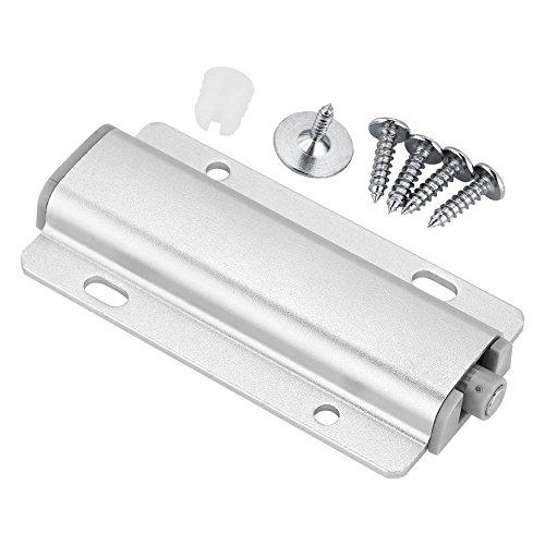 Fdit 5Pcs Tampon d'Amortisseur de Porte d'Armoire Tiroir d'Armoire Pousser pour Ouvrir Le Verrou du Système avec Pointe Magnétique(Argent)