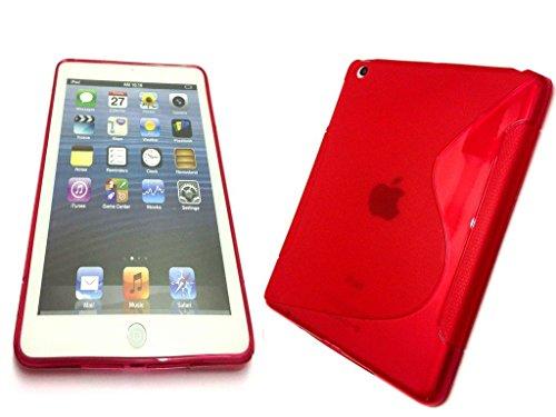 Rouge S Line Wave Soft coque arrière en gel TPU pour Apple iPad Mini 2/iPad mini/iPad