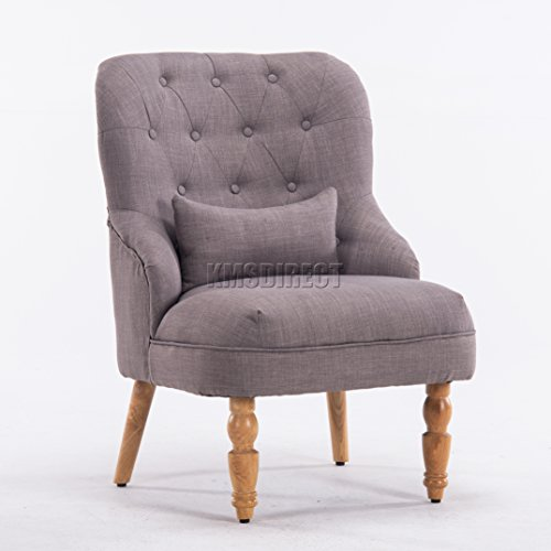 WestWood Linen Fabric Tub Chair Armchair Dining Living Room Lounge Office Modern Furniture Grey TC06 New