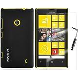 MiniSuit Kit pour Nokia Lumia 520 Étui fin caoutchouté, film protecteur d'écran et stylet