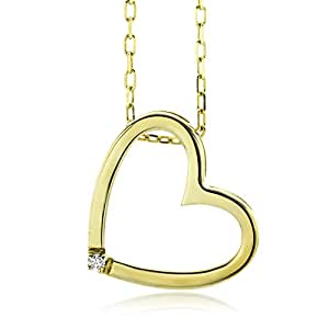 Miore - M0836CY - Collier Femme - Coeur - Or jaune 750/1000 (18 carats) 3.11 gr - Diamant 0.01 cts - 42 cm