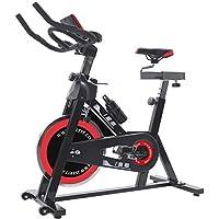 ISE Cardio Vélo Biking Vélo d'Appartement Vélo Spinning avec Programme et l'Ecran LCD, Cardiofréquencemètre, avec Porte-Bouteille & Bouteille, Volant d'inertie de 13 kg, SY-7001