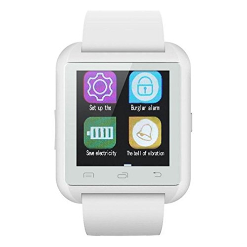 HealthMax HT U8 White Smartwatch Compatible With Micromax Canvas Play 4G Mobiles