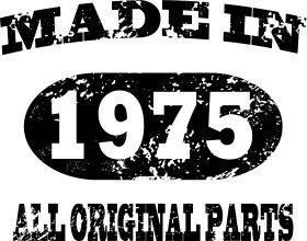 Mister Merchandise Cooles Herren T-Shirt Made in 1975 All Original Parts Years Jahre Geburtstag Rot