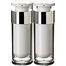 ericotry 2 unidades 15 ml/30 ml/50 ml vacío rellenable blanco acrílico alta