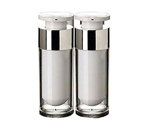 ericotry 2 unidades 15 ml/30 ml/50 ml vacío rellenable blanco acrílico alta calidad Airless vacío bomba de vacío crema loción Fundación dispensador de botellas Vial Viaje crema loción tóner recipiente