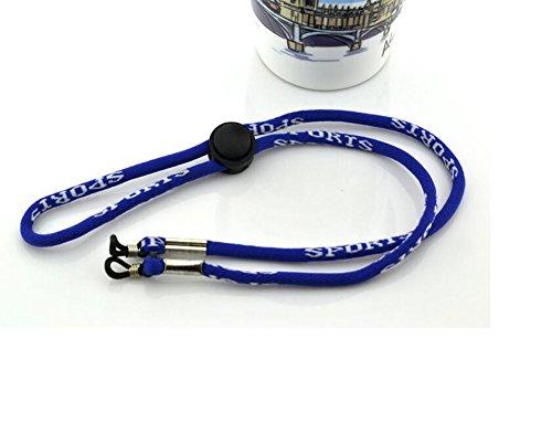 2Universal wiederverwendbar verstellbar Paracord Sonnenbrille/Eyewear Lanyard Sonnenbrille Riemen Rope Lanyard Halter, blau