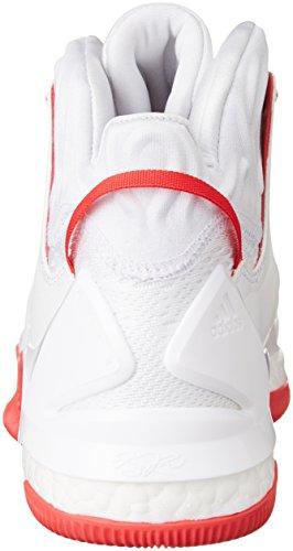 adidas D Rose 7, Scarpe da Basket Uomo Multicolore (Ftwwht/Rayred/Ftwwht)