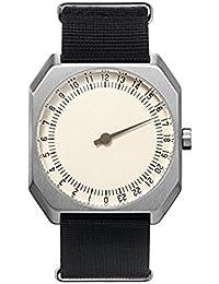 Slow Jo 12 Montre bracelet Mixte, Nylon, couleur: Noir