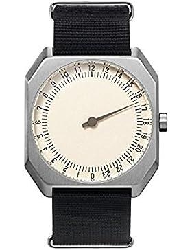 slow Jo 12 - Black Nylon, Silver Case, Cream Dial - Swiss Made