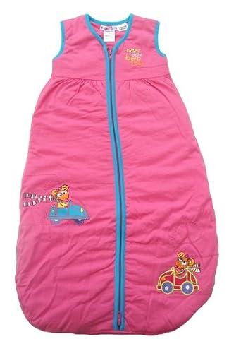 Bright Bots - 0/3m Sleepbag Baby Girl Sleeping Bag Winter 3.5 Tog in Soft Jersey Cotton - Pink