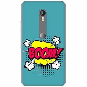 Printland Printed Hard Plastic Back Cover for Moto G Turbo -Multicolor