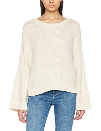 New Look Damen Pullover Wide Sleeve, Beige (Stone 16), 42 (Pullover Sleeve Wide)